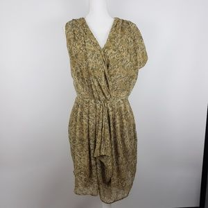 W118 By Walter Baker Snake Print asymmetric dress